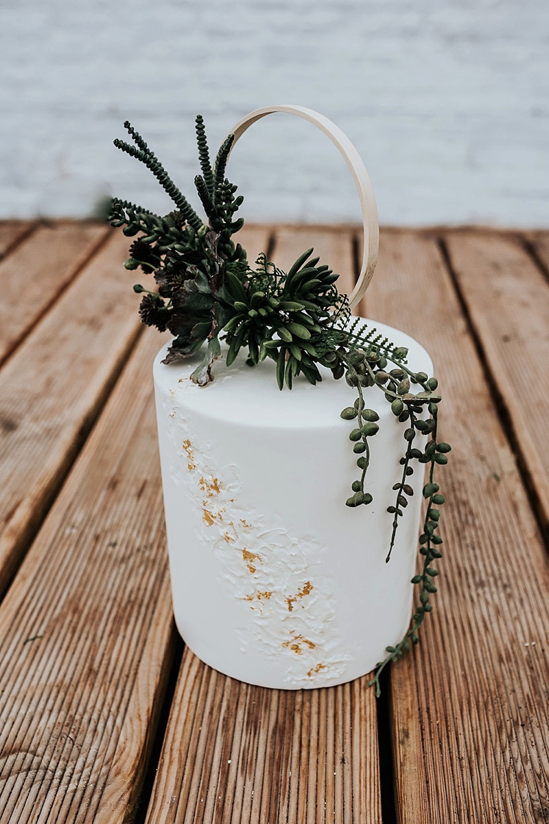 Unique cascading faux succulents with wooden hoop for boho wedding cake topper on Etsy