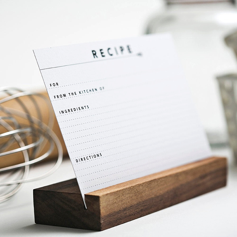 Blank recipe cards on Etsy for the kitchen inspired stocking stuffer
