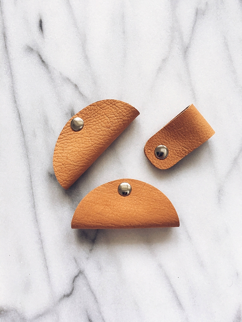 Chic leather cord organizer tacos for the techie stocking stuffer