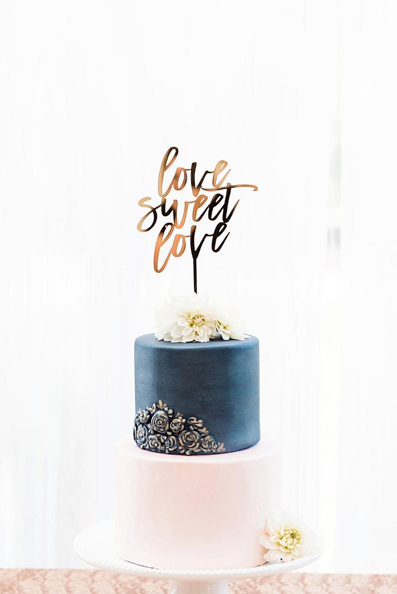Custom Love Sweet Love wedding cake topper for gender neutral wedding decor