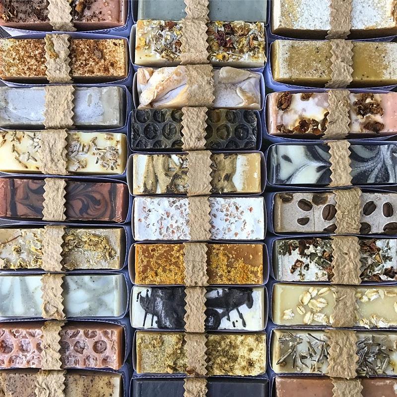 Artisanal handmade soap for stocking stuffer idea