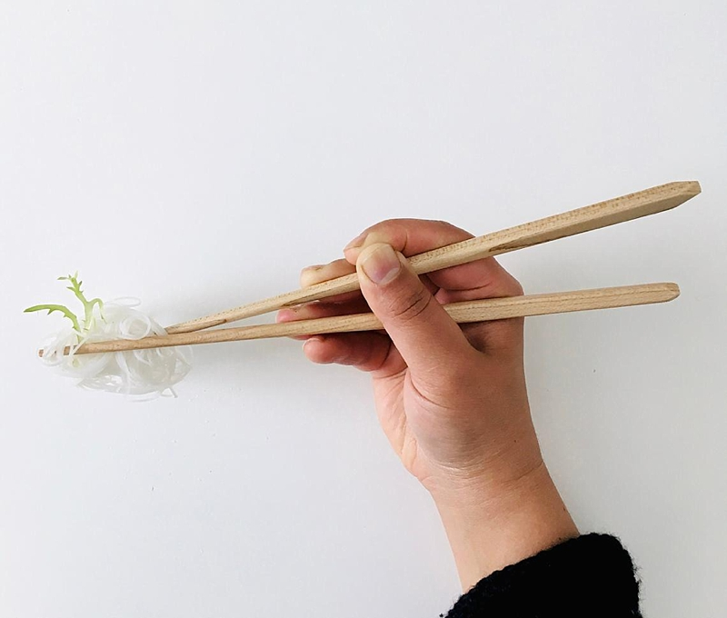 Chic geometric wood chopsticks for the food home delivery lover Christmas gift idea