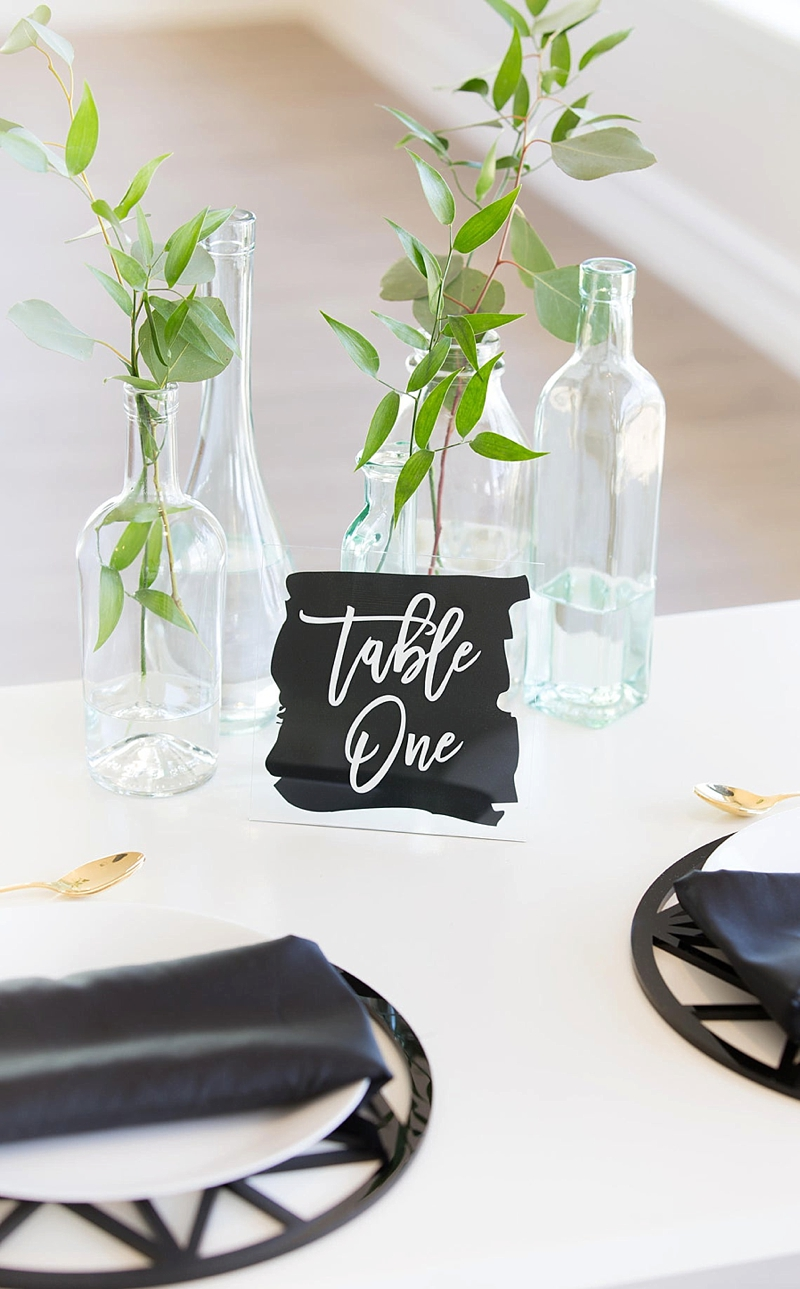 Paint style acrylic wedding table numbers