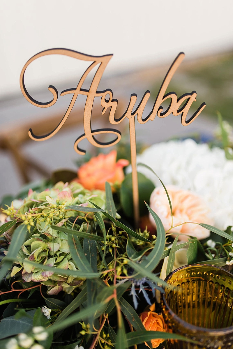 Personalized wood destination location name wedding table numbers