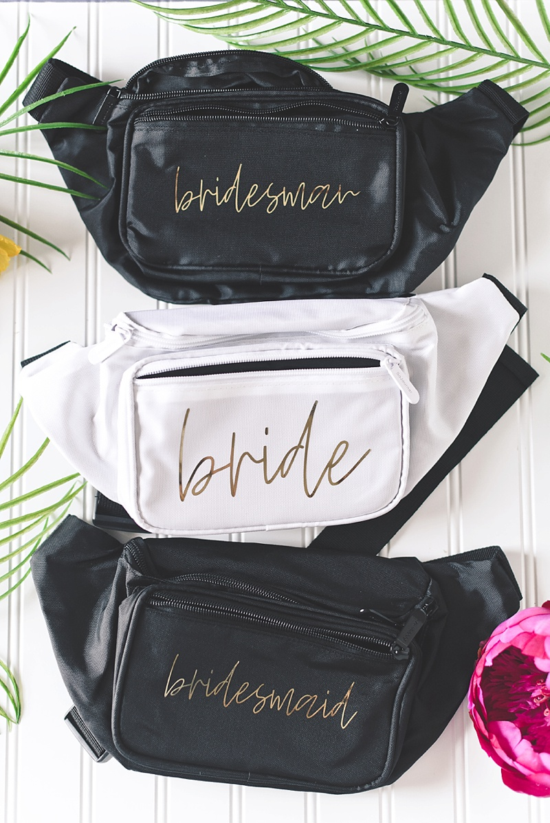 Fun and trendy bachelorette party fanny packs for summer concerts