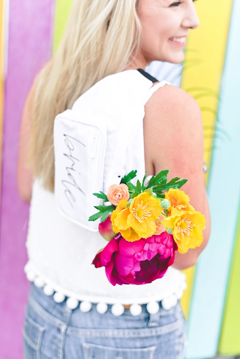 Chic personalized fanny pack for summer bride and bachelorette party