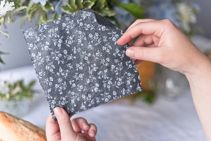 How to make chic beeswax wrap wedding favors for Earth Day wedding