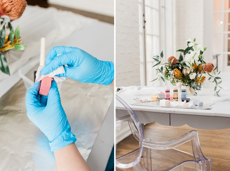 Wedding ideas on how to use DecoArt color stain for DIY projects