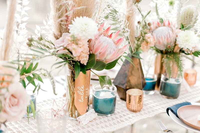 How to make gorgeous glass table number vases with textured copper vinyl and Cricut