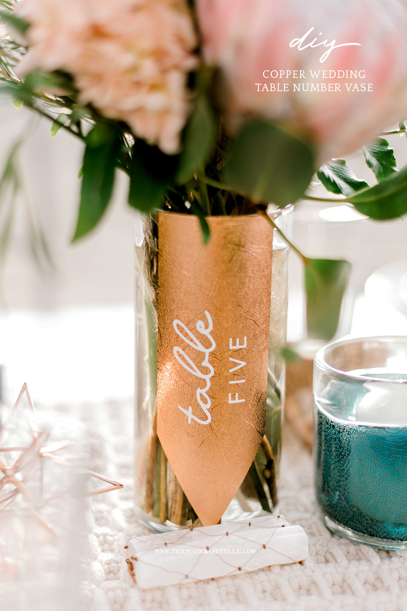 How to make simple DIY boho wedding table numbers using your Cricut
