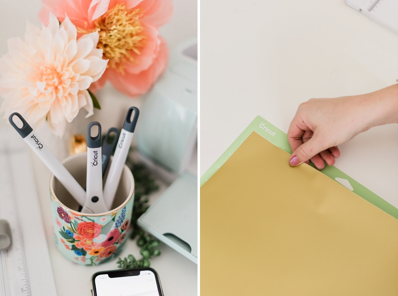 Tips and ideas for using Cricut vinyl for your wedding DIY projects
