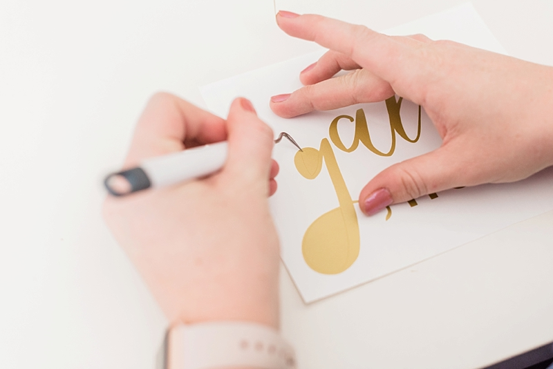 How to use Cricut premium vinyl for easy DIY wedding projects