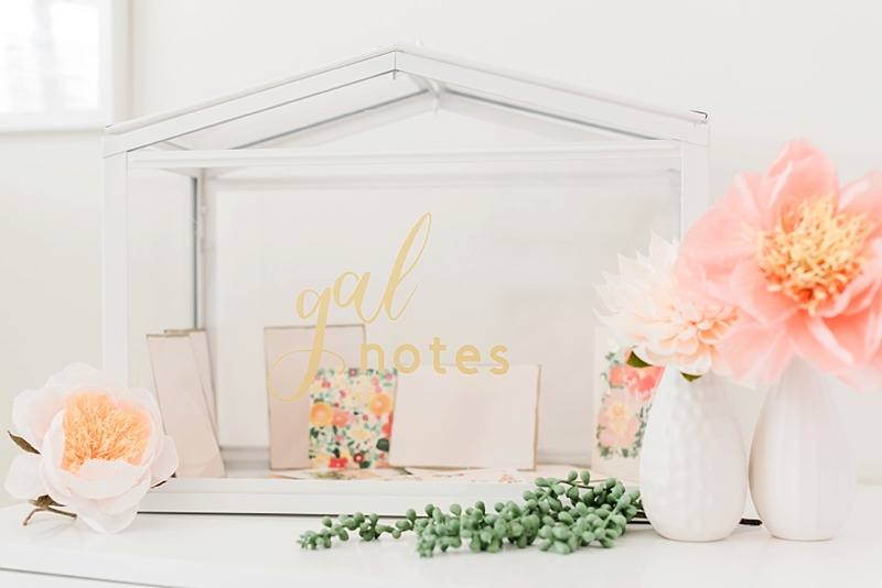 Easy Galentines Day wedding card box idea made with Cricut