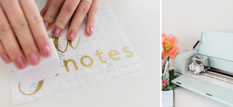How to use Cricut transfer tape for easy DIY wedding vinyl projects