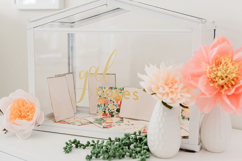 Chic and modern Galentines Day DIY ideas made with Cricut Explore Air 2 machine and vinyl
