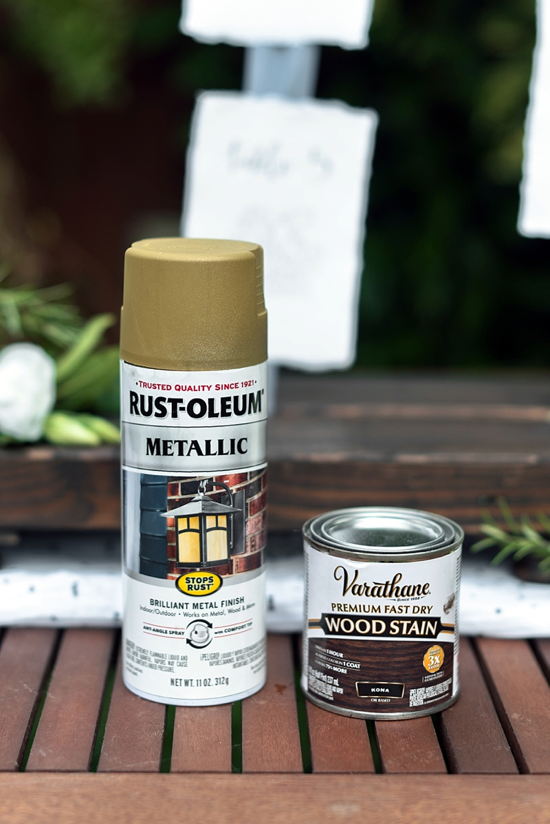 How to use spray paint for wedding DIY projects