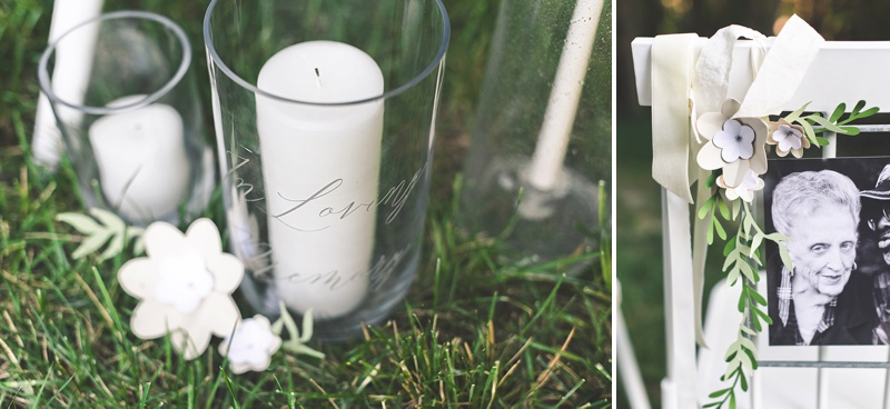 How to make a simply beautiful DIY wedding ceremony memorial chair using your Cricut