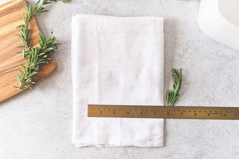How to personalize cotton kitchen towel gifts for the newlyweds