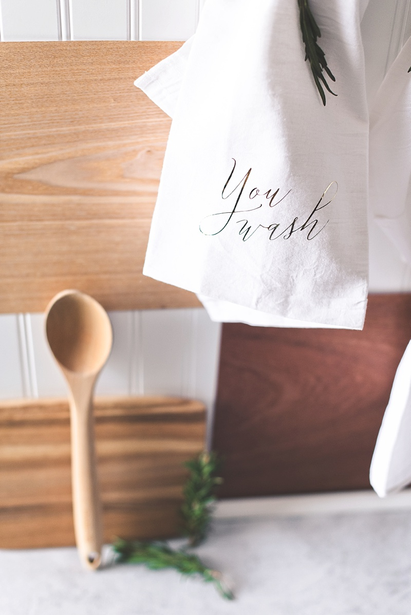 Yoda Star Wars inspired You Wash and Dry I Will DIY wedding gift for cotton kitchen towels