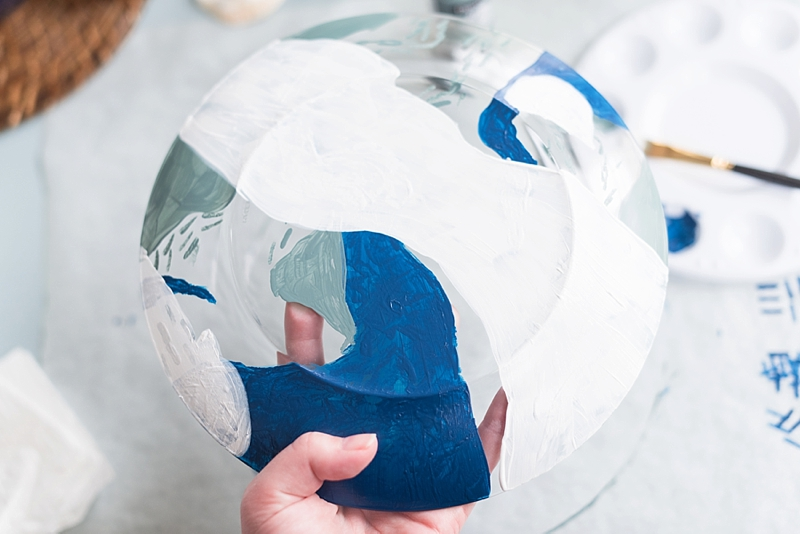 Painting techniques for using DecoArt glass paint on wedding DIY projects
