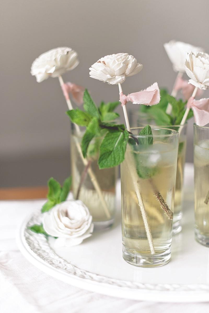 DIY wedding drink stirrer ideas