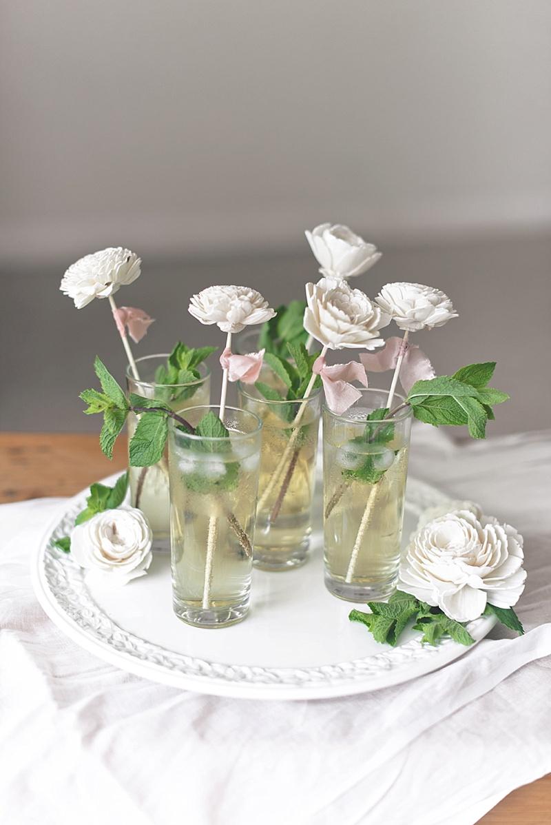 DIY signature cocktail wedding drink stirrers