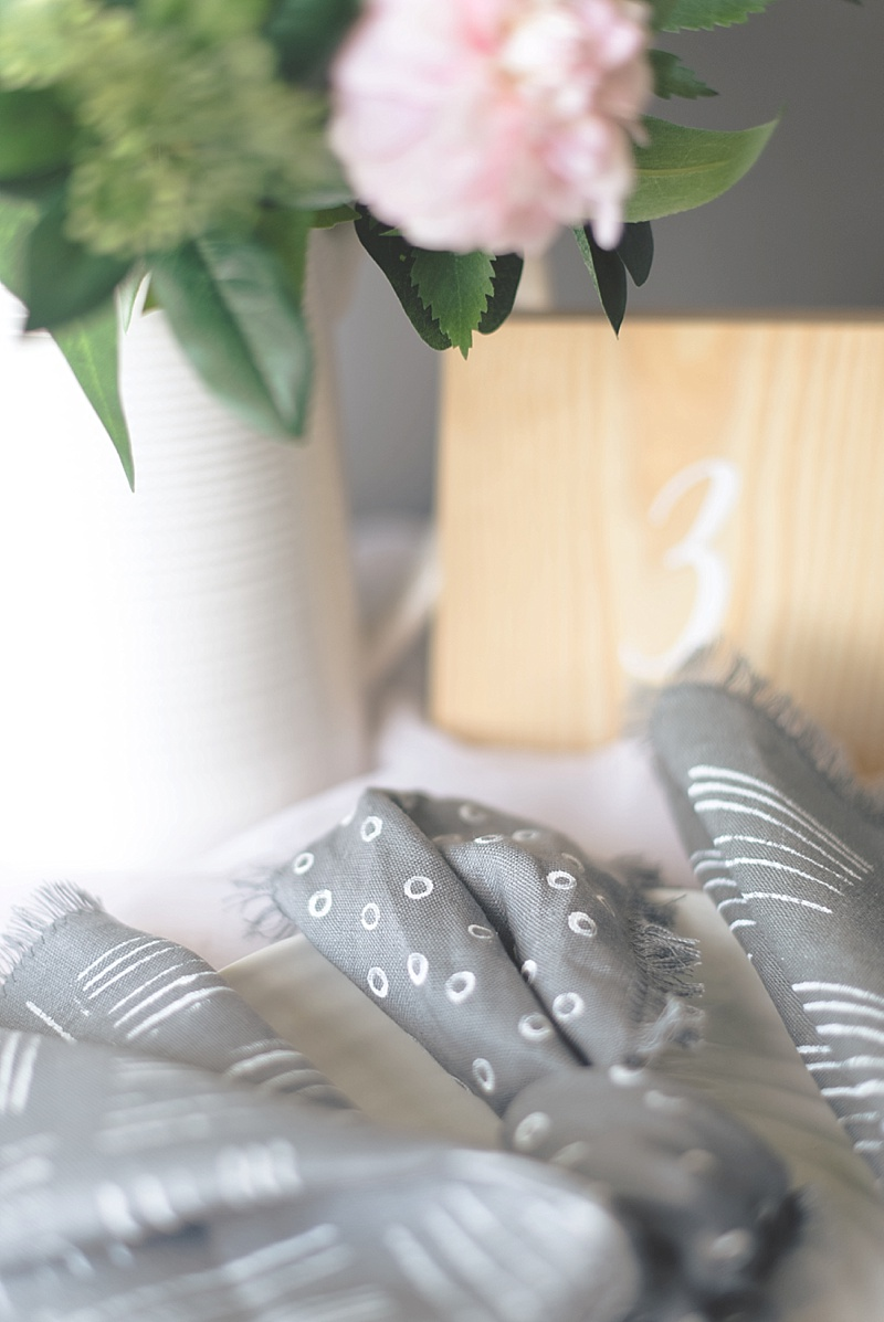 DIY bridal shower napkin ideas