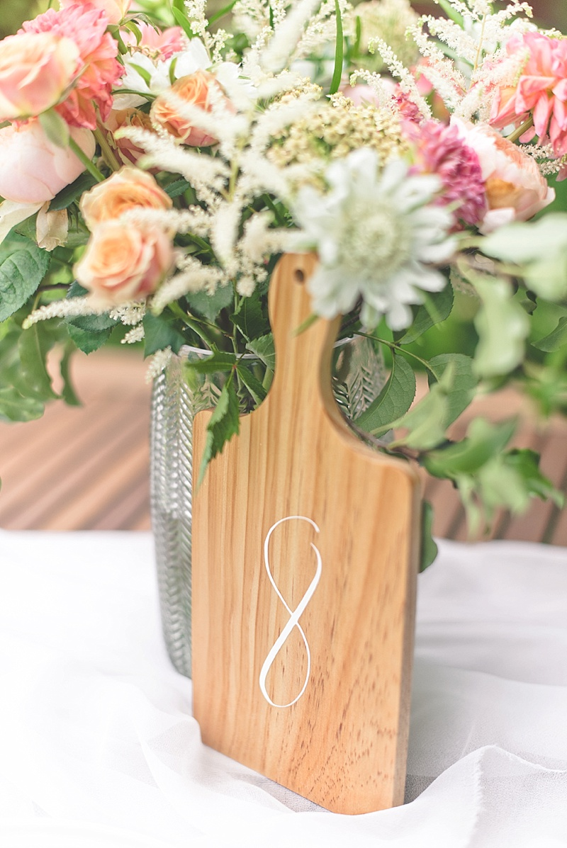 Easy DIY wood table numbers made with Cricut or paint
