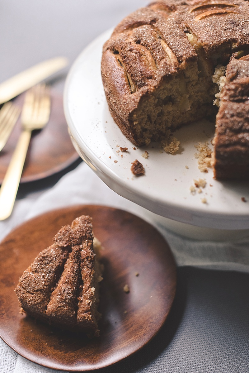 Gluten free apple cider cake recipe for fall weddings