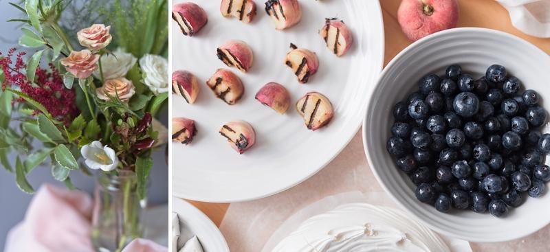 Ingredients for pavlova meringue wedding cake recipe