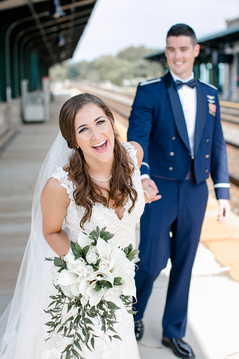Air Force military wedding in Fredericksburg Virginia at the Fredericksburg Country Club with classic details and calla lily bouquet