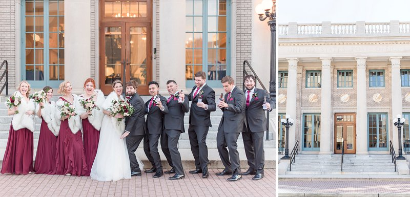 Chic red and white winter wedding at Historic Post Office on Virginia Wedding Blog