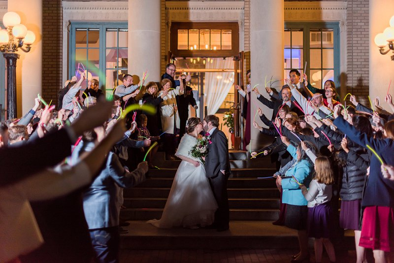 Fun glow stick wedding exit idea on Virginia Wedding Blog
