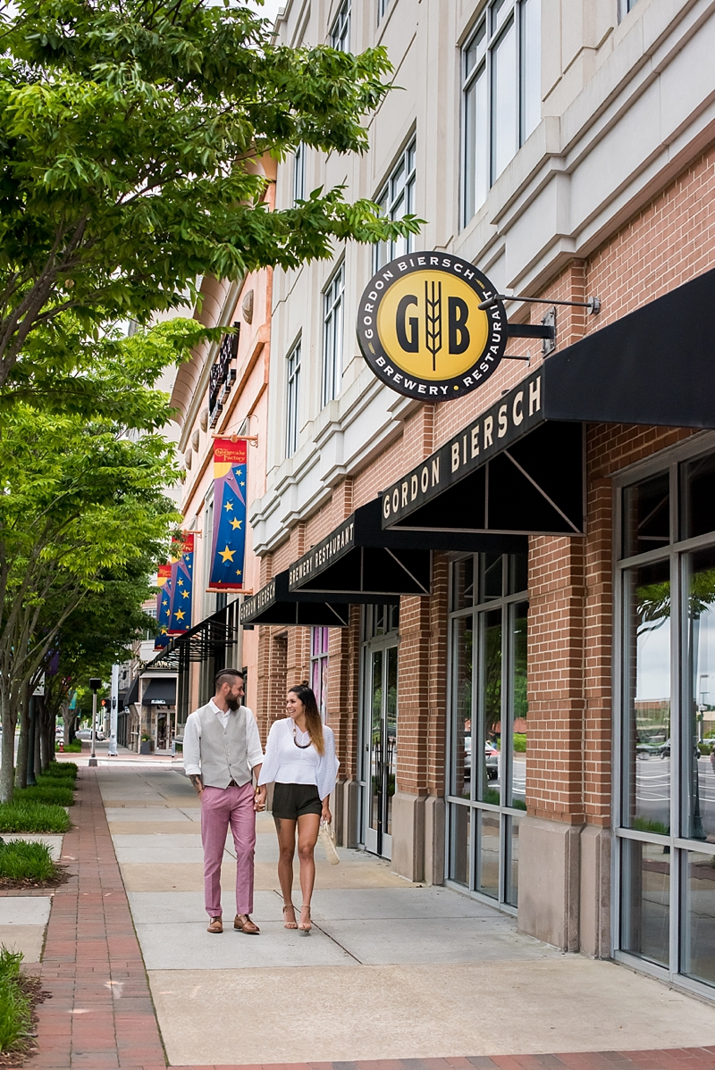 Romantic date night out idea at Gordon Biersch in Town Center of Virginia Beach
