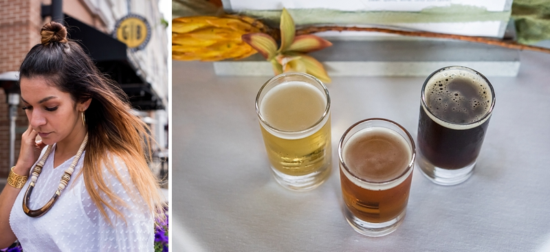 Tropical industrial wedding proposal ideas at a brewery restaurant