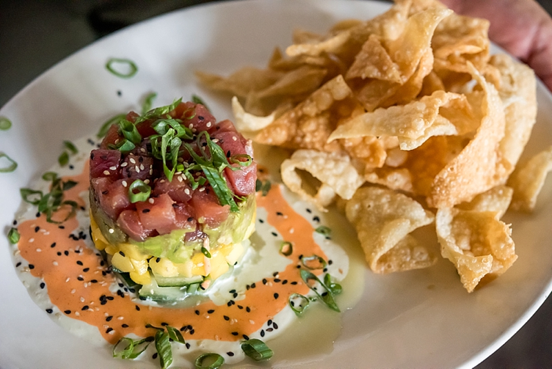 Ahi Tuna Tower from Gordon Biersch for a yummy summer date night