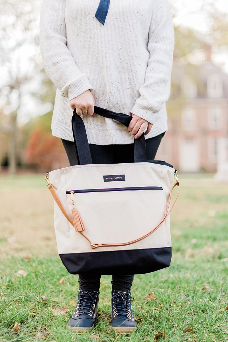 Waterproof weekender travel tote from Logan and Lenora for the perfect British honeymoon bag