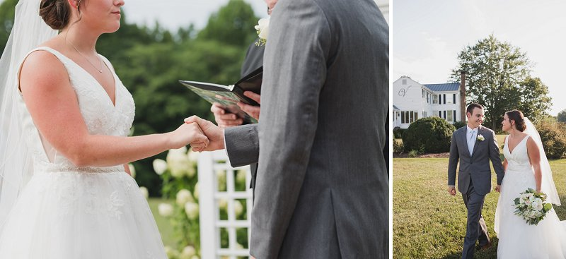 Outdoor rustic wedding ceremony at New Kent Winery