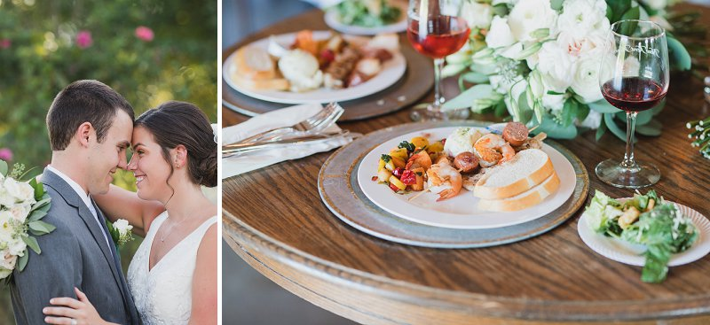 Winery wedding reception food ideas at New Kent Winery in Virginia