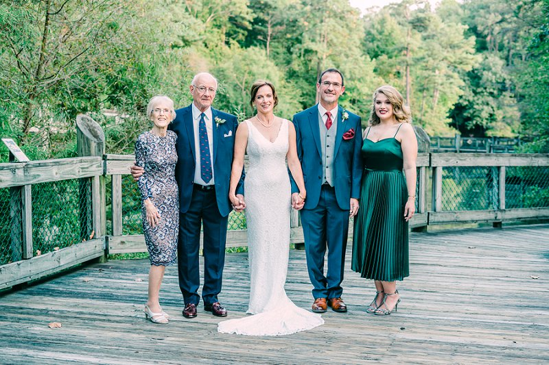Elegant and simple outdoor wedding at the Virginia Living Museum