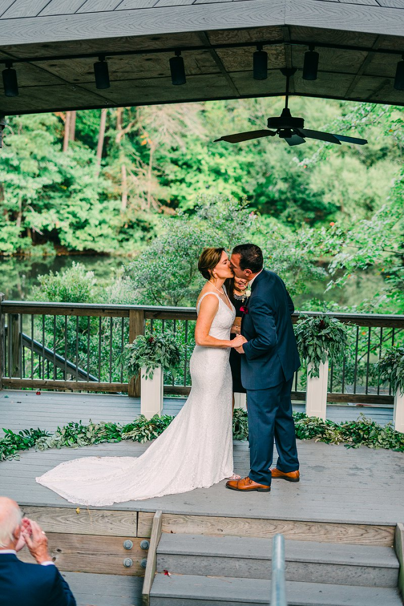 Romantic outdoor ceremony at Virginia Living Museum in Newport News Virginia