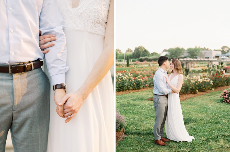 Engagement photo ideas for a rose garden romance in Virginia