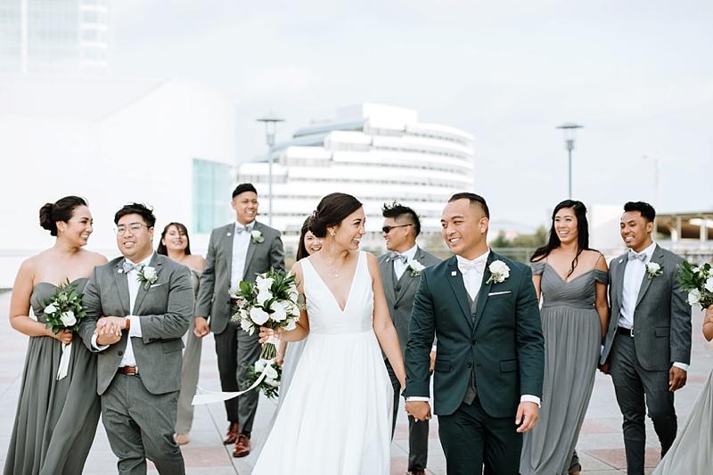 Beautiful gray themed modern wedding at the Decker Half Moone Center in Norfolk Virginia