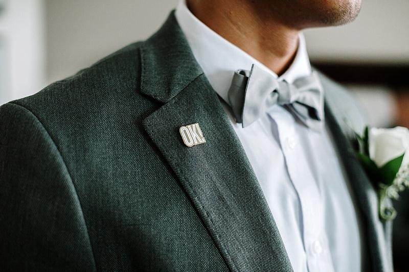 Custom made wedding enamel pin for the wedding party to wear in Norfolk Virginia