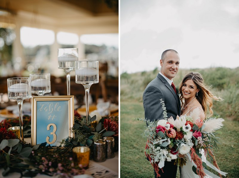 Boho outdoor wedding at the Currituck Club in the Outer Banks