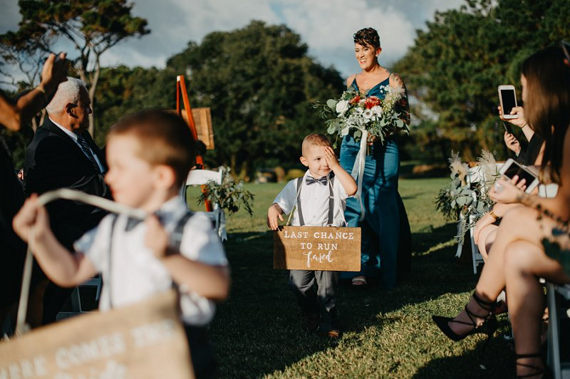Funny ring bearer sign for wedding ceremony