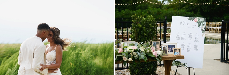 Beautiful outdoor COVID affected wedding in Outer Banks at private beach house