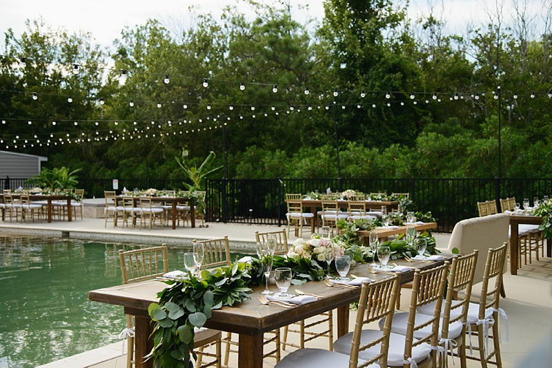 Outdoor socially distanced wedding reception layout perfect for COVID affected wedding in Outer Banks