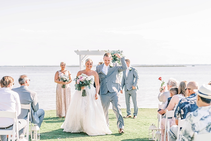 Intimate COVID affected wedding at Currituck Club in the Outer Banks North Carolina