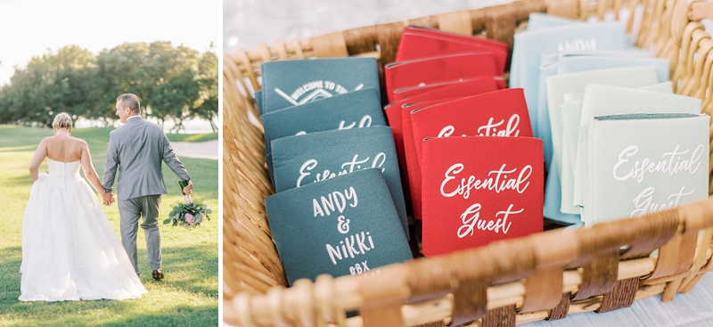 Custom funny Essential Guest wedding koozies for COVID affected wedding